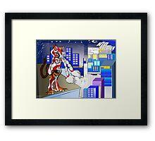 Kaoroko watching city lights (Kid Soldier) Framed Print