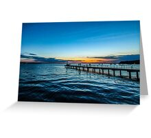 Sunset over the Slovenian Coastline Greeting Card