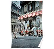 Vintage Paris Street Life 1956 Petit Suisse Poster