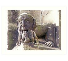 Gargoyle at the Priory Art Print