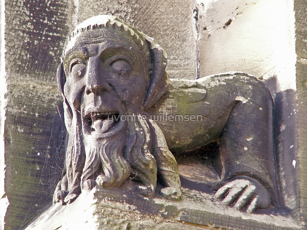 Gargoyle at the Priory by yvonne willemsen