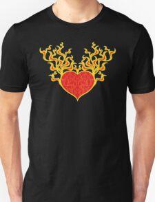 Burning Heart Unisex T-Shirt