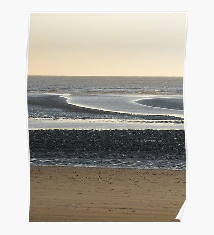 Tidal sandbanks, Camber Sands, Dec26th 2008 Poster