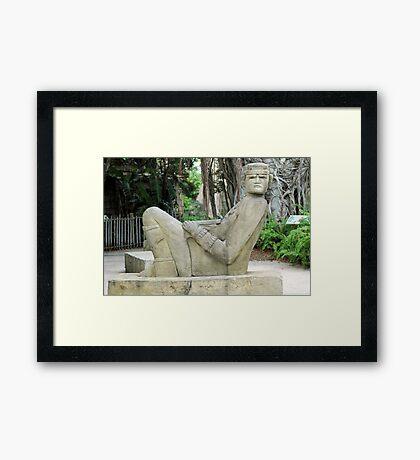 Mayan Statue Framed Print