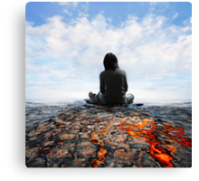 Waiting for the blue sky  Canvas Print