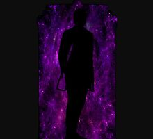 12th Doctor Silhouette Against TARDIS - purple by shaneisadragon