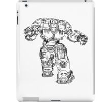 Tony Stark's Hulkbuster Suit Armour , Black outline no fill iPad Case/Skin