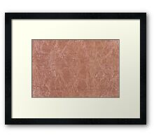 Brown canvas cloth texture abstract Framed Print