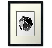 D20 Framed Print