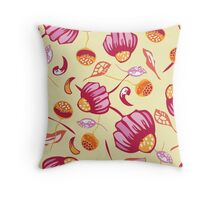 Seamless colorful floral elements , chamomile  Throw Pillow