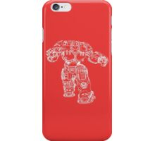 Tony Stark's Hulkbuster Suit Armour , White outline no fill iPhone Case/Skin