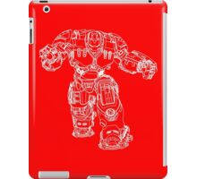 Tony Stark's Hulkbuster Suit Armour , White outline no fill iPad Case/Skin