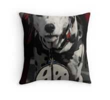 Peace Now, Bow-Wow! Throw Pillow