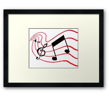 Music Notes Framed Print