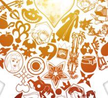 Kingdom Keyhole (orange) Sticker