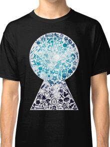 Kingdom Hearts - Keyhole (blue) Classic T-Shirt