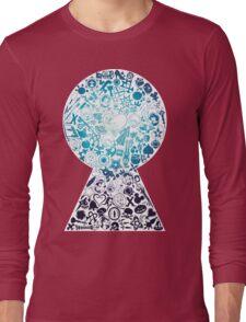 Kingdom Hearts - Keyhole (blue) Long Sleeve T-Shirt