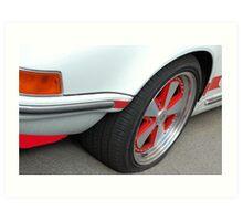 Red Power - Porsche Carrera Art Print