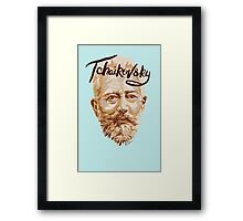Tchaikovsky - classical music composer Framed Print