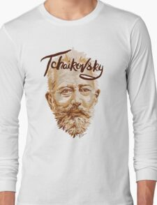 Tchaikovsky - classical music composer Long Sleeve T-Shirt