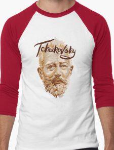 Tchaikovsky - classical music composer Men's Baseball ¾ T-Shirt