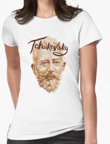 Tchaikovsky - classical music composer Womens Fitted T-Shirt