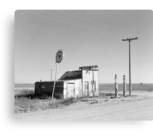 Abandoned Gas Station, 1937 Canvas Print