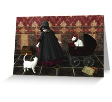 Playing: gothic way Greeting Card
