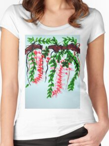 Wisteria on branch Women's Fitted Scoop T-Shirt