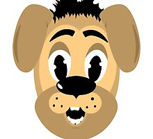 cartoon style dog head by Deanora