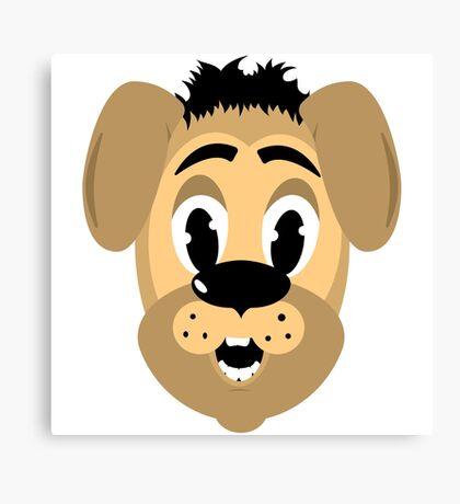 cartoon style dog head Canvas Print