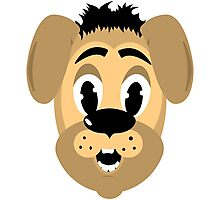cartoon style dog head Photographic Print