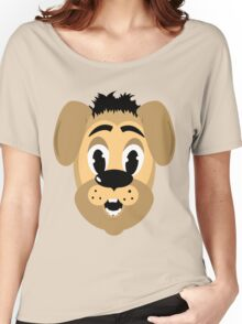 cartoon style dog head Women's Relaxed Fit T-Shirt