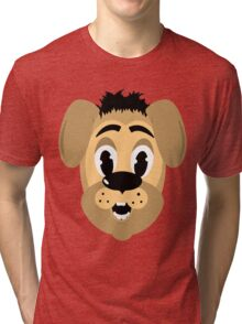 cartoon style dog head Tri-blend T-Shirt