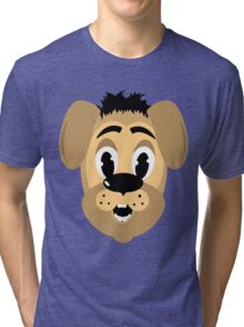 cartoon style dog head Tri-blend T-Shirt