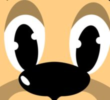 cartoon style dog head Sticker