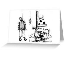 Hanging Clowns Greeting Card