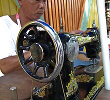 Sewing machinist at Kota Kinabalu markets by heidiwho