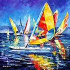 Yellow Yacht — Buy Now Link - www.etsy.com/listing/225773080 by Leonid  Afremov