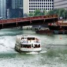 TOUR BOAT ON THE CHICAGO RIVER by cdudak