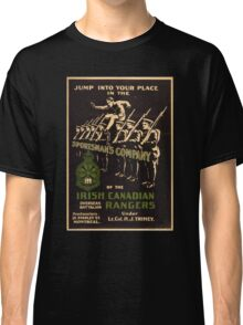 'Irish Canadian Ranger' Vintage Poster (Reproduction) Classic T-Shirt