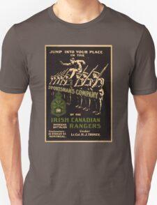 'Irish Canadian Ranger' Vintage Poster (Reproduction) T-Shirt