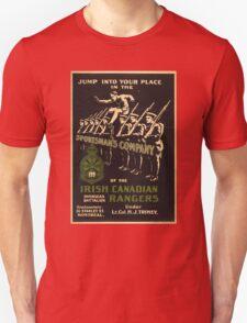 'Irish Canadian Ranger' Vintage Poster (Reproduction) Unisex T-Shirt