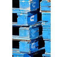 Blue Pallets Photographic Print