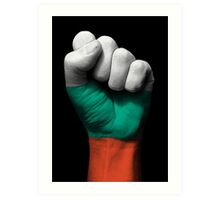 Flag of Bulgaria on a Raised Clenched Fist  Art Print