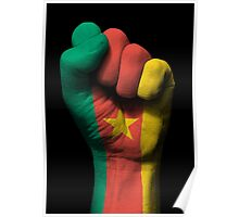 Flag of Cameroon on a Raised Clenched Fist  Poster