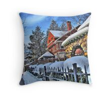 Bright winter day Throw Pillow