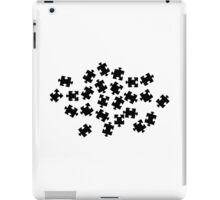 Black jigsaw puzzle iPad Case/Skin