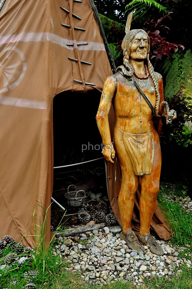 photoj Tassie Sth, Carved Indian by photoj