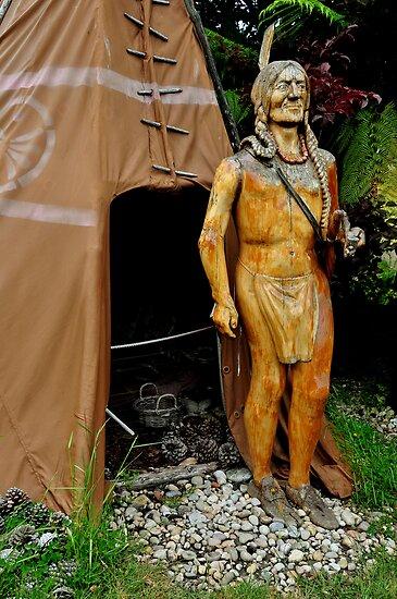 photoj Tassie Sth, Carved Indian by photoj